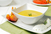 Creamed pumpkin soup — Stock Photo