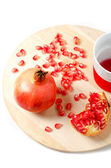 Fresh ripe pomegranate — Foto Stock