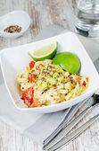 Zucchini noodles — Stock Photo