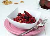 Salad with red beet — Stock Photo