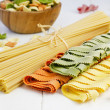Stock Photo: Variety of pasta