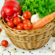Stock Photo: Basket of Various Vegetables