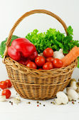 Basket of Various Vegetables — Stock Photo