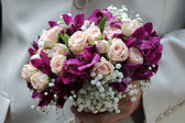 Bride bouquet for marriage — Stock Photo