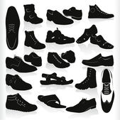 Vector man's shoes — Stock Vector