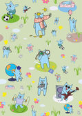Creative wallpapers cats — Vettoriale Stock