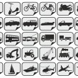 Stock Vector: Simple transport icons