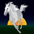 Whitehorse - Stock Vector