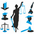 Legal icons — Stock Vector #30012409