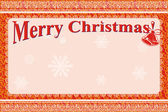 Rot-frame-frohe weihnachten — Stockvektor