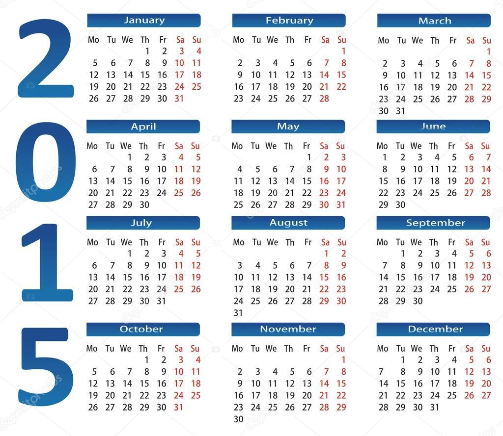 1024 x 889 jpeg 264kB, Calendario 2015 – Ilustración de stock