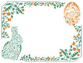 Simple frame with Easter bunny — Vector de stock