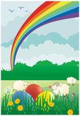 Easter colored vector background — Stockvektor