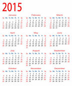 Simple calendrier 2015 — Vecteur