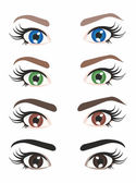 Eyes of different colors — Stock Vector