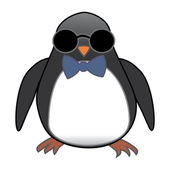 Penguin in sunglasses — Stockvektor