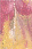 Abstract vector achtergrond van kleurrijke cirkels warme tinten — Stockvector