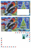 Set of greeting Christmas letter — Stock Photo