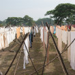 Drying clothes in India — Stock Photo