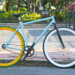 Bicycle in Lumphini Park — Stock Photo