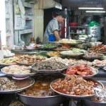asiatisk mat gatan rätter — Stockfoto