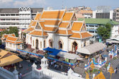 Modern buddhist temple, high angle view — Stock Photo