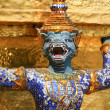 Blue dragon. Fragment of King Palace in Bangkok — Stock Photo