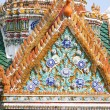 Front of flower roof at the King Palace in Bangkok - Stock Photo