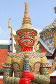 Red standing dragon. Fragment of King Palace in Bangkok — Stock Photo