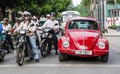 旧红披头士乐队成员站在十字路口 — 图库照片