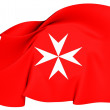 Civil Ensign of Malta — Stock Photo