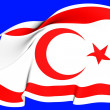 Flag of Turkish Republic of Northern Cyprus — Stock Photo