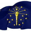 Flag of Indiana, USA. — Stock Photo #24314781