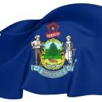 Flag of Maine, USA. — Stock Photo