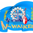 Flag of Milwaukee, USA. — Foto Stock