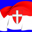 Flag of Vienna — Stock Photo