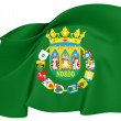 Stock Photo: Flag of Seville Province, Spain.