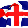 Flag of Iceland — Stock fotografie #24614381