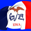 Stock Photo: Flag of Iowa, USA.