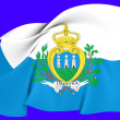 Flag of SMarino — Stockfoto #24615281