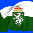 Stock Photo: Flag of Styria, Austria.