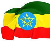 Etiopská vlajka — Stock fotografie