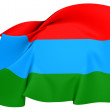 Flag of Karelia, Russia. — Stock Photo