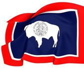 Flag of Wyoming, USA. — Stock fotografie
