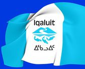 Flag of Iqaluit, Canada. — Stock Photo