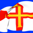 Flag of Guernsey — Stock Photo