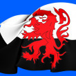 Flag of Poitou, France. — Stock Photo #26095867