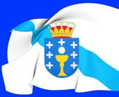 Flag of Galicia, Spain. — Stock Photo