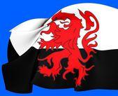 Flag of Poitou, France. — Stock Photo