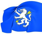 Flag of Wolfenschiessen, Switzerland. — Stockfoto